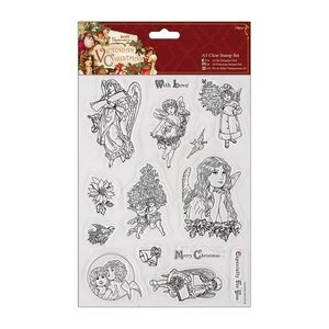Docrafts / Papermania / Urban A5 Precision Stamp Set, Victorian Christmas - Angel