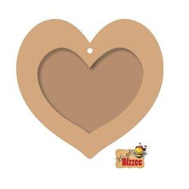 Objekten zum Dekorieren / objects for decorating Voorwerpen te versieren, Heart Photo Frame