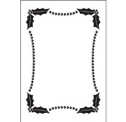 DARICE Embossing Folder: Embossing Folder, Christmas decorative frame (150x105mm)