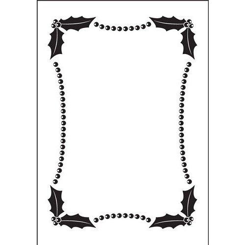 DARICE Embossing Folder: Gauffrage, Noël cadre décoratif (150x105mm)