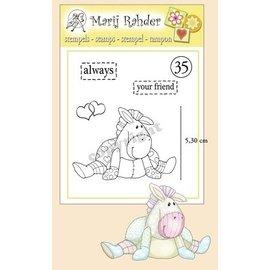 Stempel / Stamp: Transparent Sellos transparentes, corazones, textos: siempre y su amigo y un pony lindo