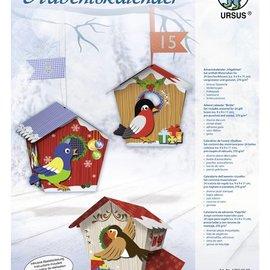 """BASTELSETS / CRAFT KITS Compleet Bastelset een adventskalender """"birdie"""""""