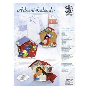 """BASTELSETS / CRAFT KITS Complete Bastelset for an Advent calendar """"birdie"""""""