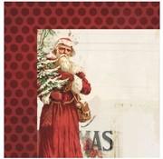 Designer Papier Scrapbooking: 30,5 x 30,5 cm Papier 1 Designer Bogen, Vintage Christmas, 30,5 x 30,5 cm
