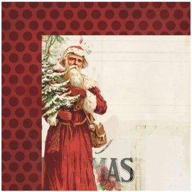 Designer Papier Scrapbooking: 30,5 x 30,5 cm Papier 1 Designer Arch, Vintage jul, 30,5 x 30,5 cm