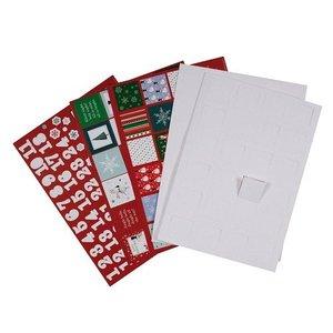 Komplett Sets / Kits Bastelset to design an advent calendar with 24 doors
