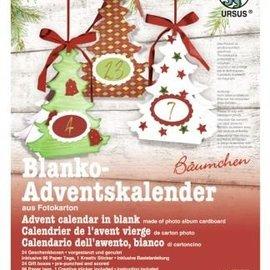 Weihnachtsdeko basteln, Komplettes Bastelset für einen Adventskalender