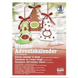ANGEBOT! Weihnachtskalender basteln, Komplettes Bastelset für einen Adventskalender