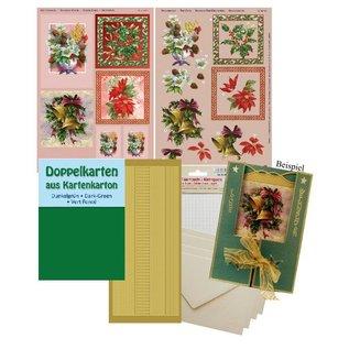 BASTELSETS / CRAFT KITS Compleet Kits, voor 4 Kerstkaarten