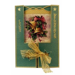 BASTELSETS / CRAFT KITS Complete Kits, for 4 Christmas Cards