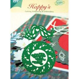 Joy!Crafts / Jeanine´s Art, Hobby Solutions Dies /  plantillas de punzonado y estampado en relieve, corona de Navidad