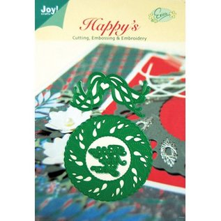 Joy!Crafts / Jeanine´s Art, Hobby Solutions Dies /  Ponsen en embossing sjablonen, kerstmis kroon