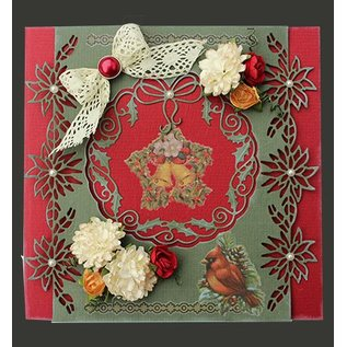 Joy!Crafts / Jeanine´s Art, Hobby Solutions Dies /  Stamping and Embossing stencil: poinsettia garland