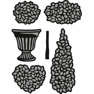 Marianne Design Taglio e goffratura stencil, piante in vaso Set