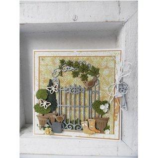Marianne Design Kutte og prege sjablonger, potteplanter Set