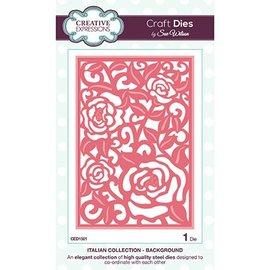 CREATIVE EXPRESSIONS und COUTURE CREATIONS Punzonatura e goffratura modello sfondo motivo Roses