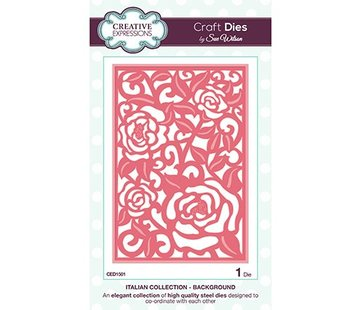 CREATIVE EXPRESSIONS und COUTURE CREATIONS Punching and embossing template background motif Roses