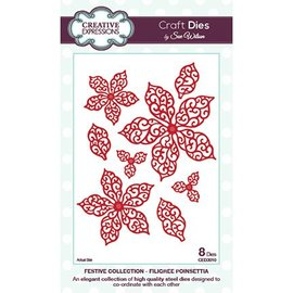 CREATIVE EXPRESSIONS und COUTURE CREATIONS Corte y estampado en relieve plantillas, hojas y flores (CED3010)