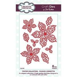CREATIVE EXPRESSIONS und COUTURE CREATIONS Kutte og prege sjablonger, blader og blomster (CED3010)