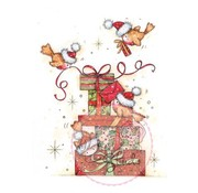 Wild Rose Studio`s Transparent stamps, Robins to Presents
