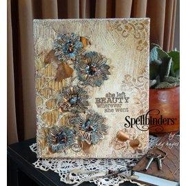 Spellbinders und Rayher plantillas de punzonado y estampado en relieve Shapeabilities, flores románticas