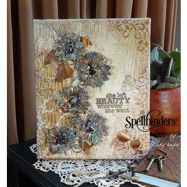 Spellbinders und Rayher Punzonatura e goffratura modelli Shapeabilities, fiori romantici
