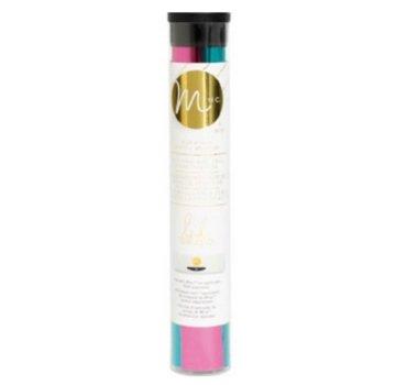 BASTELZUBEHÖR, WERKZEUG UND AUFBEWAHRUNG Blu metallizzato lamina e rosa
