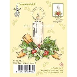 Leane Creatief - Lea'bilities und By Lene I timbri trasparenti Una candela
