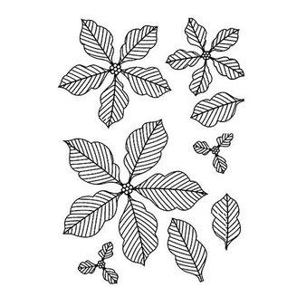 CREATIVE EXPRESSIONS und COUTURE CREATIONS Gummi Stempel, Weihnachtsstern- Blumen