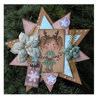 CREATIVE EXPRESSIONS und COUTURE CREATIONS Rubber stamps, flowers Weihnachtsstern-