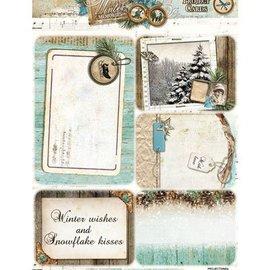 BILDER / PICTURES: Studio Light, Staf Wesenbeek, Willem Haenraets Stanzbogen, A4, Projekt Cards: Winter memories, mit 5 Hintergrund Projekt Karten.