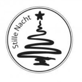 Stempel / Stamp: Holz / Wood Mini-Holzstempel, Stille Nacht , 2cm ø