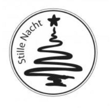 Stempel / Stamp: Holz / Wood Mini bollo di legno, Silent Night, ø 2 centimetri