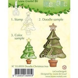 Leane Creatief - Lea'bilities und By Lene Transparent doodle Stempel, Weihnachtsbaum