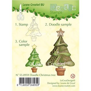 Leane Creatief - Lea'bilities und By Lene Transparante doodle stempels, Kerstmis