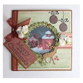 Joy!Crafts / Jeanine´s Art, Hobby Solutions Dies /  Punching and embossing templates, Christmas wreath and Hirsch