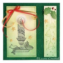 Leane Creatief - Lea'bilities und By Lene Prägeschablone, Borde: Weihnachtsglocken