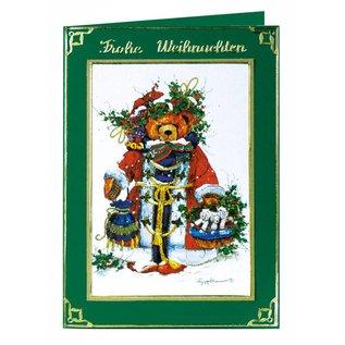 Bilder, 3D Bilder und ausgestanzte Teile usw... 1 Deluxe Stanzbogen: 3D-Stanzbogen, Vintage Weihnachtsbärchen.