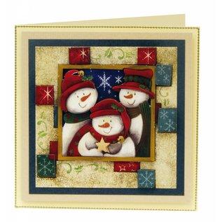 Bilder, 3D Bilder und ausgestanzte Teile usw... 1 Deluxe Stanzbogen SET: Hintergrund Bogen +3D-Stanzbogen, Weihnachtsmotive