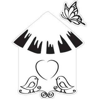 Marianne Design Cutting and embossing stencil + stamp, bird house: bird