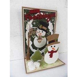 Marianne Design Plantillas de estampado de corte y muñeco de nieve