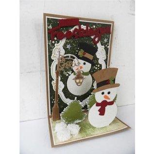 Marianne Design Snijden en embossingstencils sneeuwpop