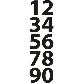 Marianne Design Kutte og prege sjablonger, små tall