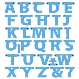Marianne Design Stanz- und Prägeschablonen, Buchstaben Girlande