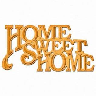 "Spellbinders und Rayher Cutting en embossing stencils, De D-Lites, tekst ""Home Sweet Home"""
