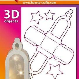 Schablonen, für verschiedene Techniken / Templates Maschera di plastica lanterna 3D, Dimensione: 21 x 30 cm