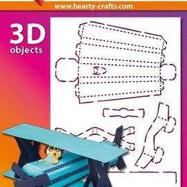 Schablonen, für verschiedene Techniken / Templates Plastic Mask 3D vliegtuigen, Afmetingen: 21 x 30 cm