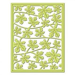 Spellbinders und Rayher Stampen en Embossing stencil, metalen stencil Shapeabilities, Card Fronts / vallende bladeren
