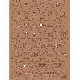 Pronty Kraftliner, voor het ontwerpen van Kerstmis Kalender