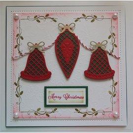 Spellbinders und Rayher Stampaggio e goffratura stencil, Tema Natale